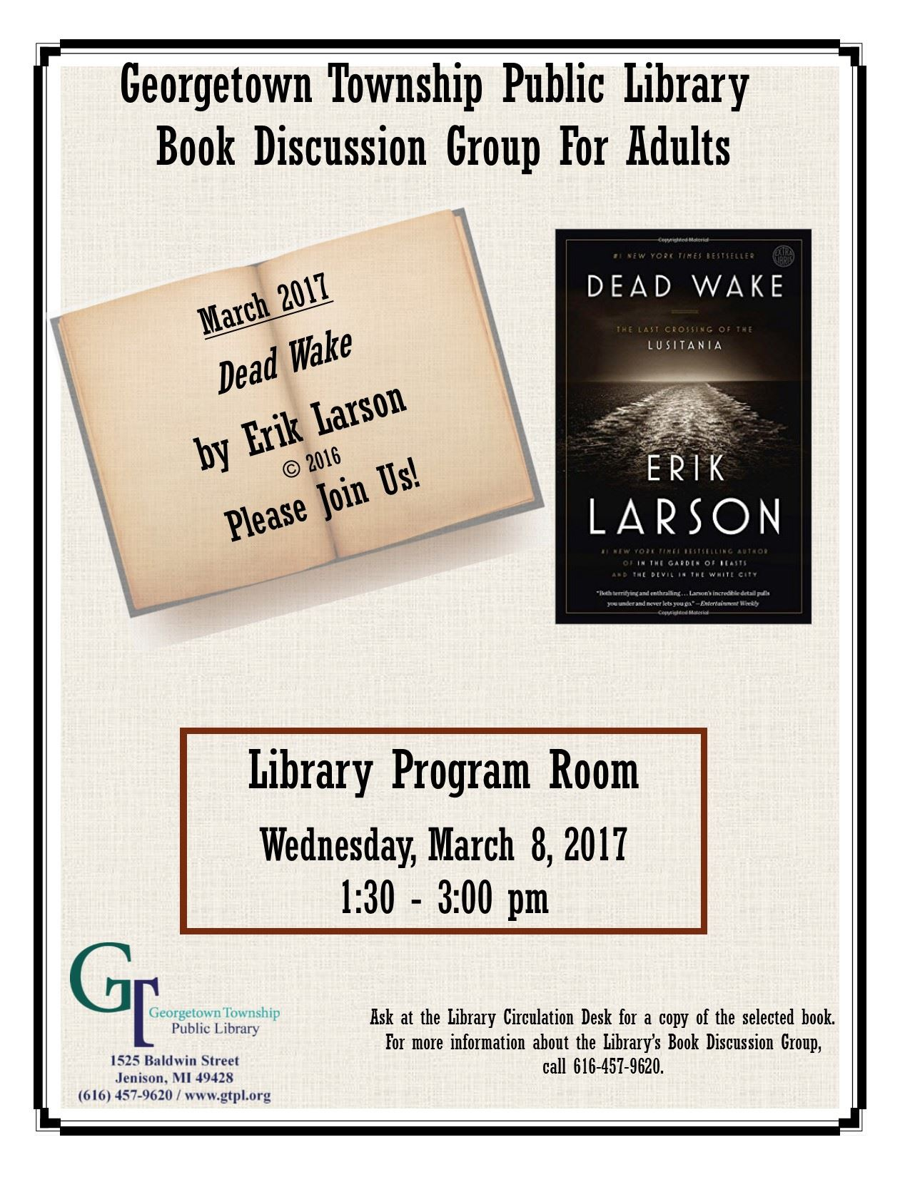 Book Discussion March 2017