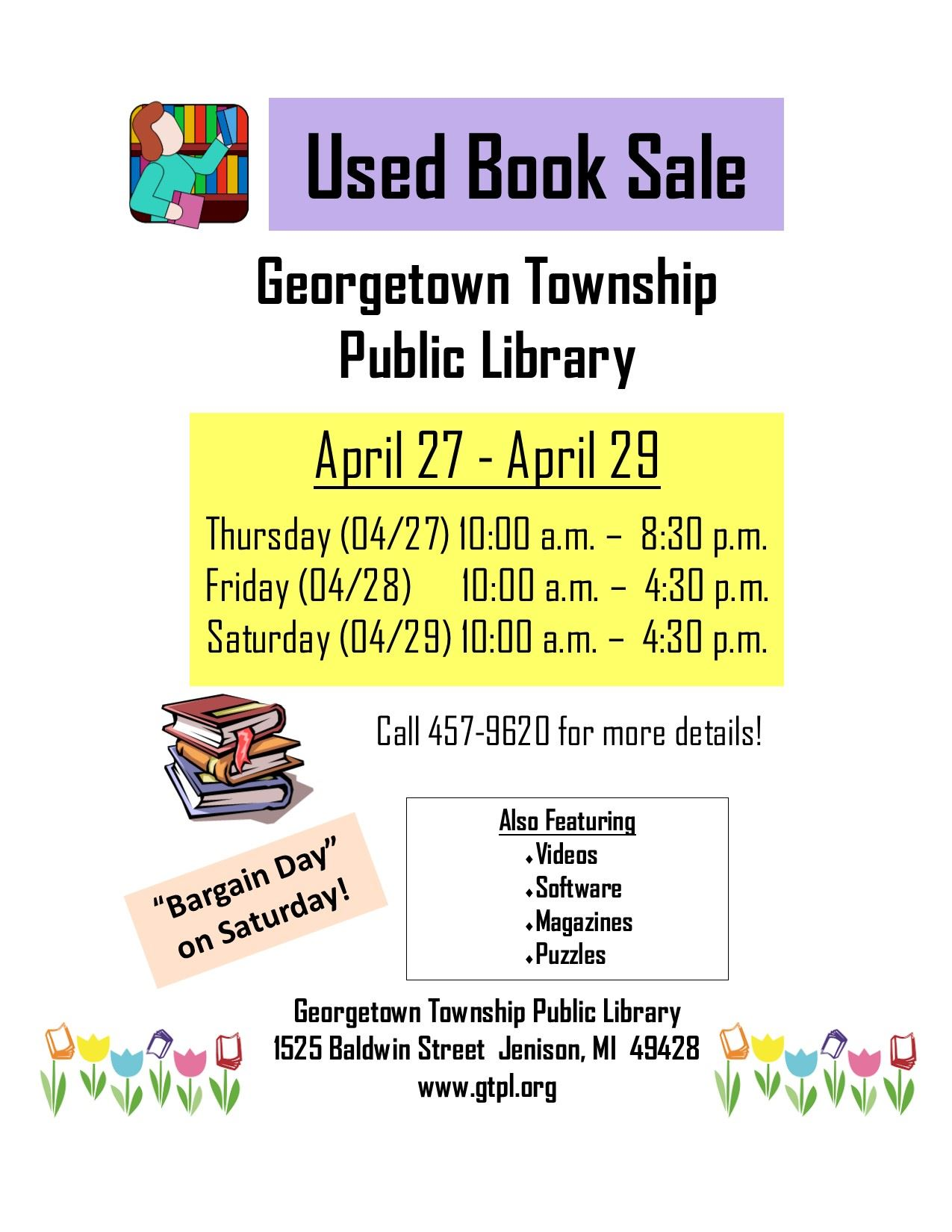 Book Sale Web Page April 2017