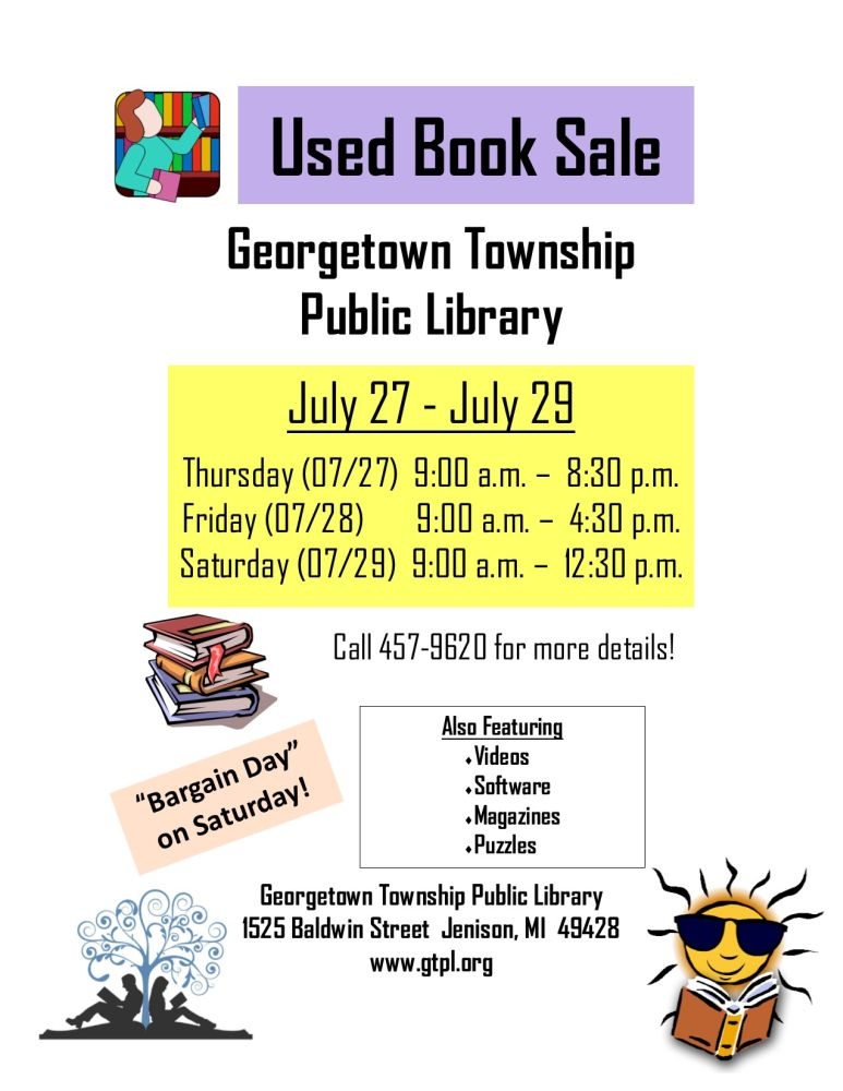 Book Sale Web Page July 2017