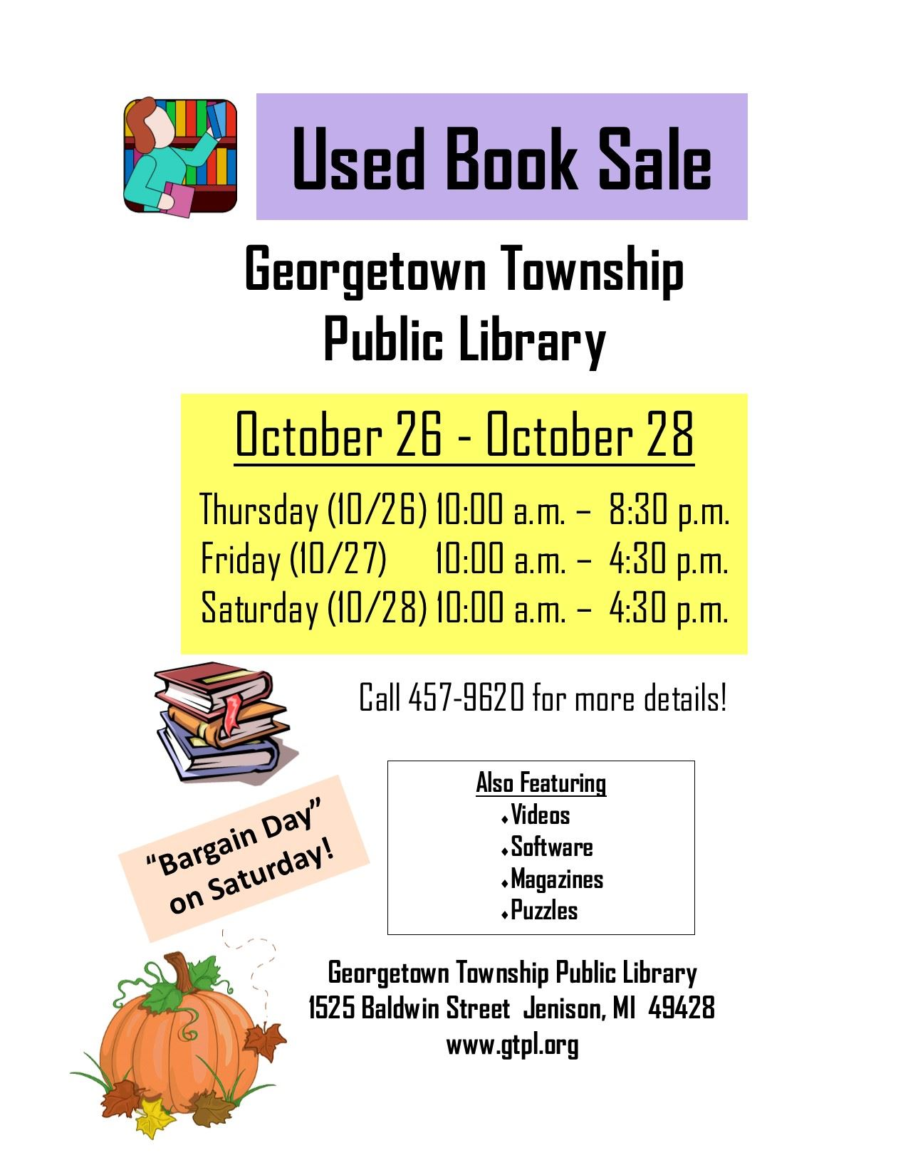 Book Sale Web Page Oct 2017
