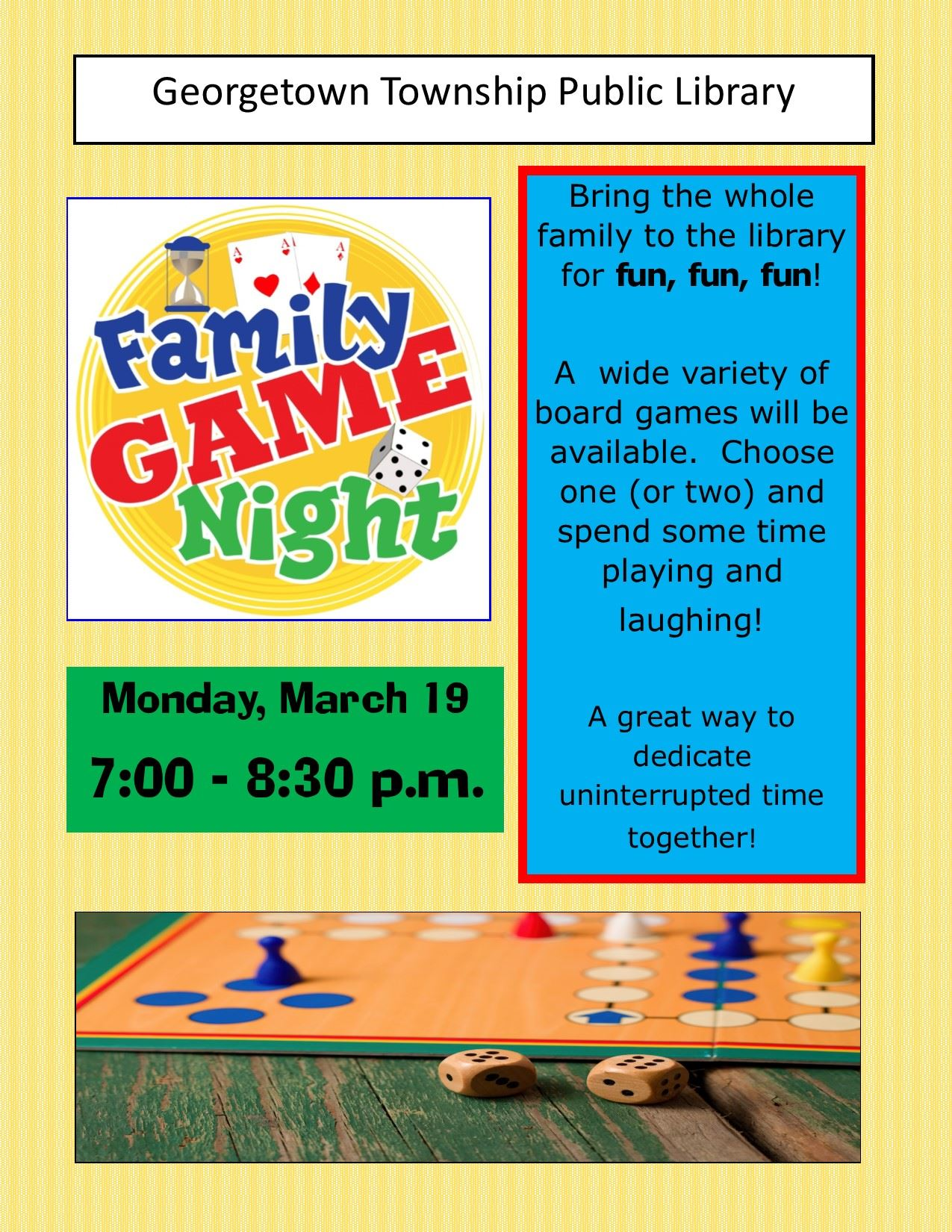 2018 March family game night